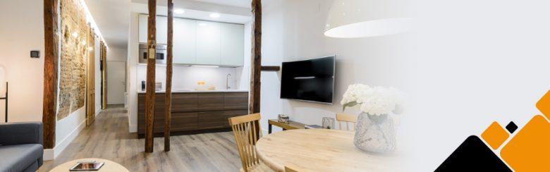 Las cocinas abiertas al salón son vitales en apartamentos.