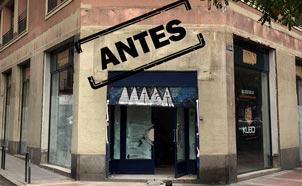 Reforma integral de local para gaming bar, ubicación de la fachada antes de la reforma