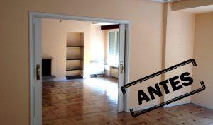 Reforma integral de un piso señorial en Madrid zona Barrio de Salamanca, antes