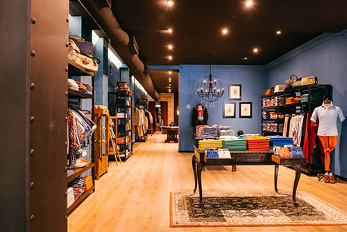 Proyecto de interiorismo e iluminación en tienda de la calle Serrano realizado por Kubo en su actividad de reformas de locales.