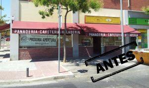 Reforma de local franquicia restaurantes en Alcobendas, foto antes