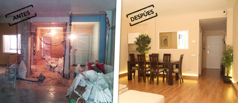 Las reformas integrales de pisos antiguos en Chamberí suelen incorporar una redistribución del espacio.