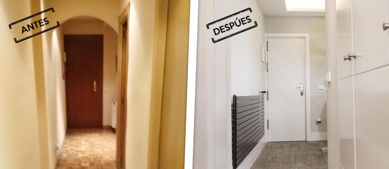 Ejemplo de reformas integrales de pisos antiguos en Madrid en barrio de Arganzuela por profesionales experimentados